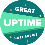 HostAdvice Great Uptime Award for JetServer