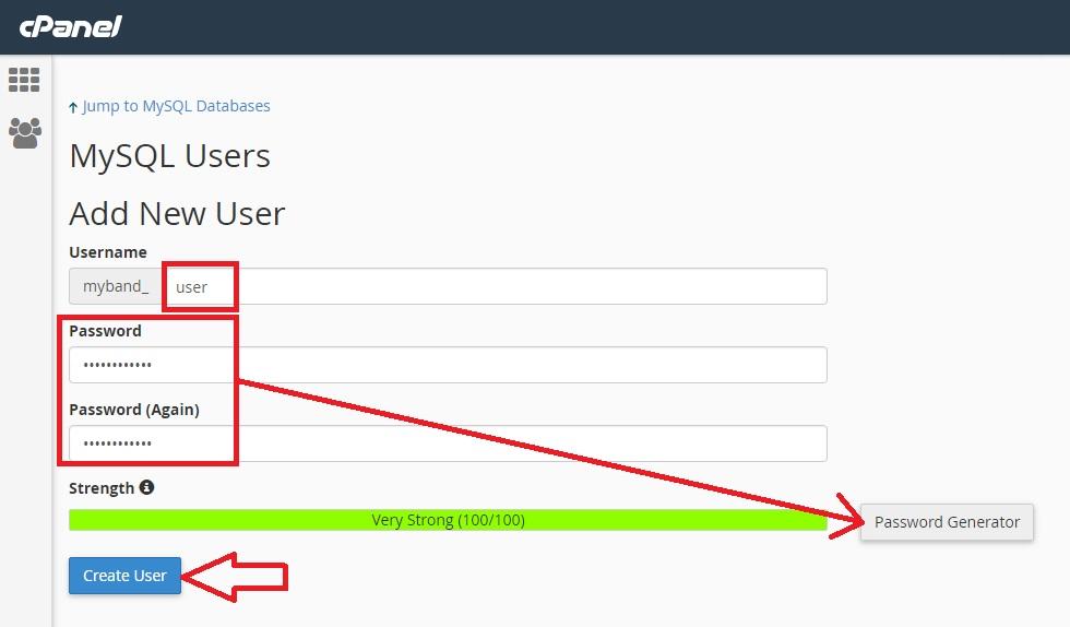 הגדרת גישת משתמש לבסיס נתונים MySQL קיים