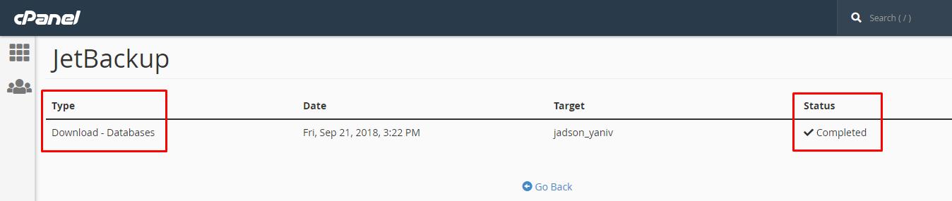 גיבוי בסיסי נתונים באמצעות JetBackup בפאנל ניהול אחסון האתר